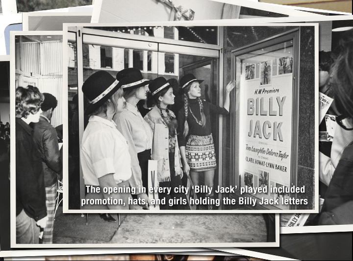 Hats, T-shirts, posters... the onslaught of the re-release of 'Billy Jack' in 1973 was so massive NO ONE didn't know the movie was playing in town.
