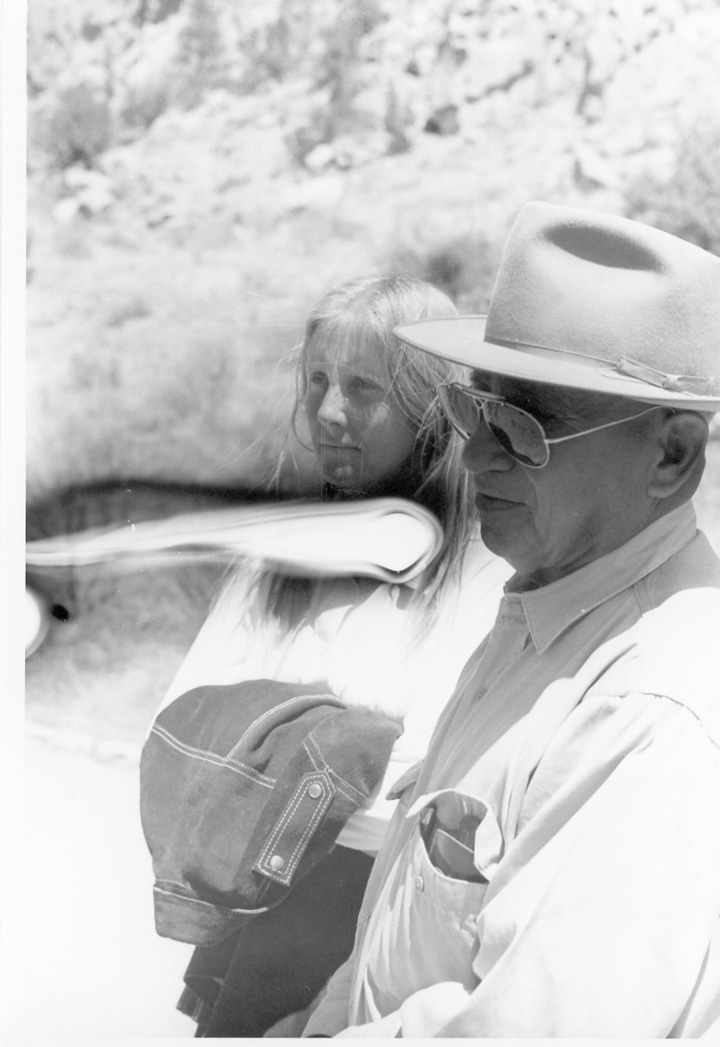 Andy Vidovich and Delores watching the ceremonial dance in 'Billy Jack'
